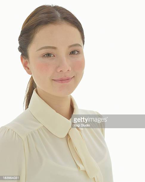 portrait of woman,smiling - blouse ストックフォトと画像