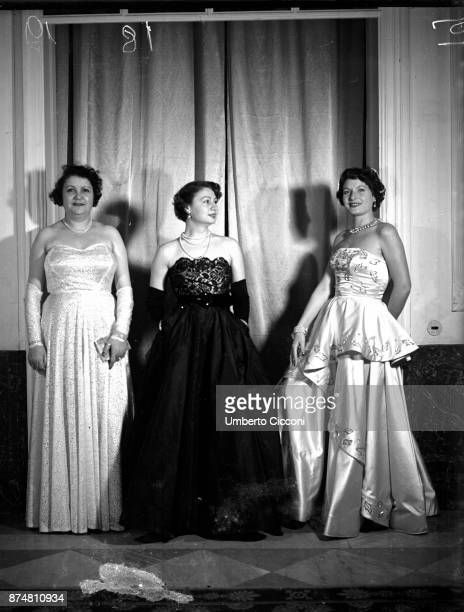 Portrait of women attending the Catholic Press party, 1950.