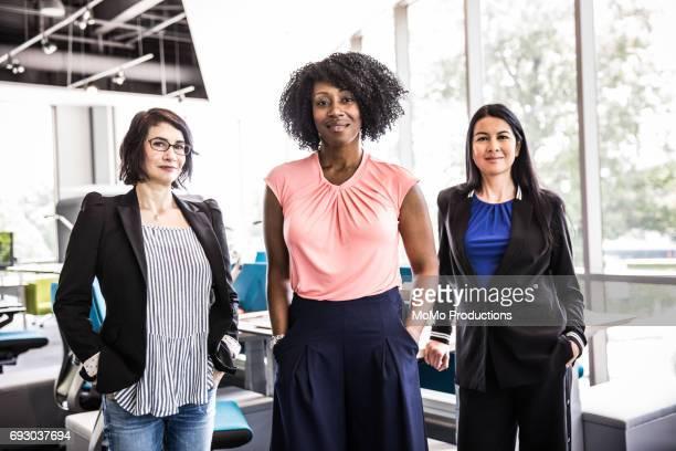 Portrait of women in modern business office