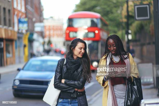 Portrait of women walking in Shoreditch, London