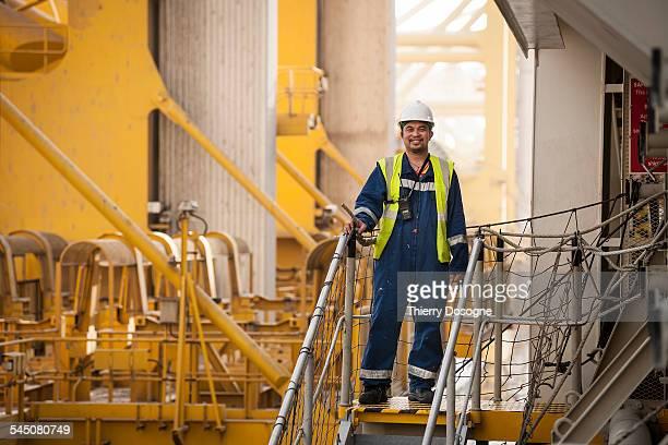 Portrait of worker ship