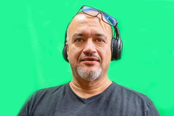 Portrait of working Hispanic man