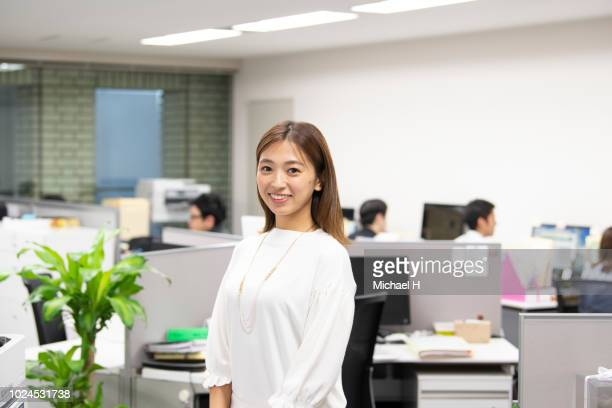 Portrait of working woman at office