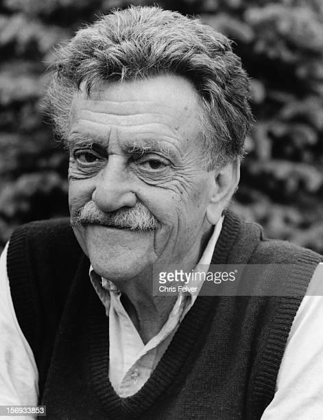 Portrait of writer Kurt Vonnegut, Sagaponack, New York, 1994.