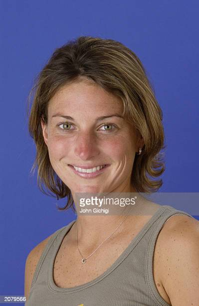 Portrait of WTA player Corina Morariu of the USA on May 26 2003 in Paris France