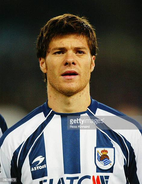 A portrait of Xabi Alonso of Real Sociedad prior to the UEFA Champions League Group D match between Real Sociedad and Galatasaray on December 10 2003...