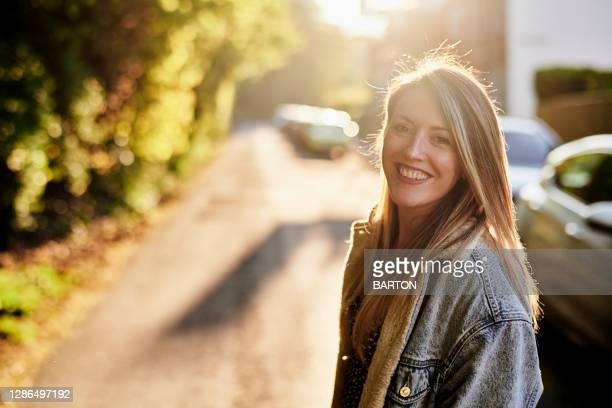 portrait of young adult woman - greater london stock pictures, royalty-free photos & images