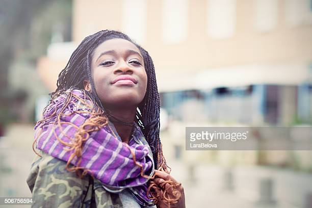 portrait of young african woman - 18 19 years stock pictures, royalty-free photos & images