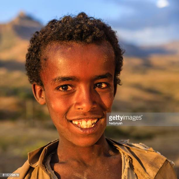 Portrait of young Africanboy, East Africa