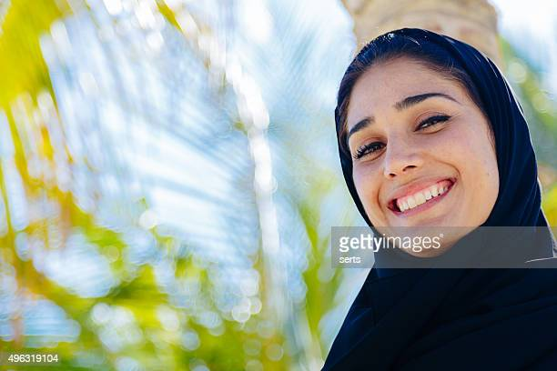 Portrait of Young Arab woman in nature