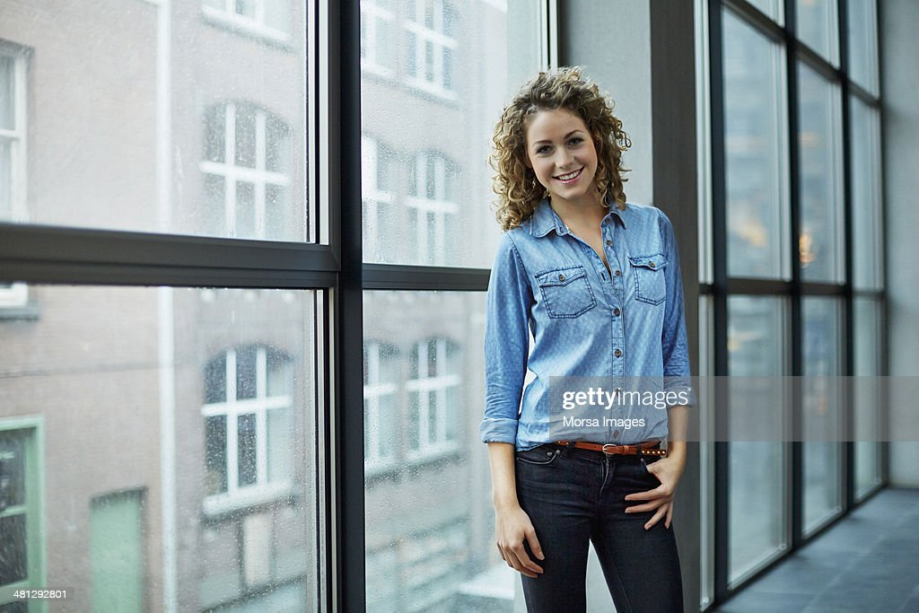 Portrait of young architect : Stock Photo