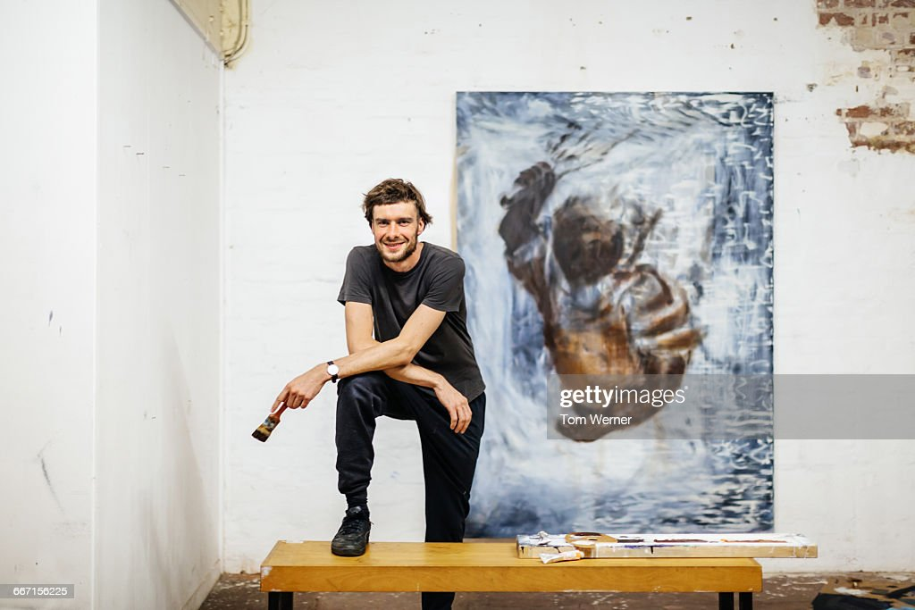 Portrait of young artist : Stock Photo