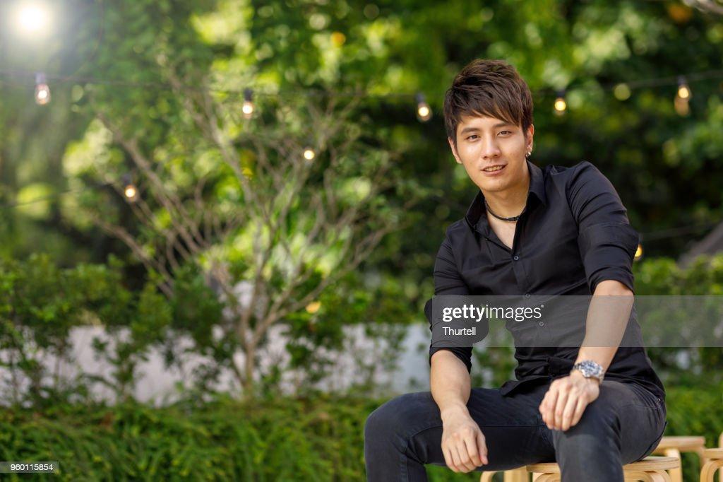 Porträt der jungen asiatischen Mann : Stock-Foto