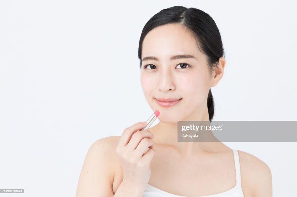 portrait of young asian woman beauty image on white background : Stock Photo