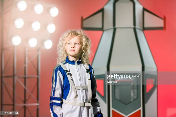 Portrait Of Young Astronaut