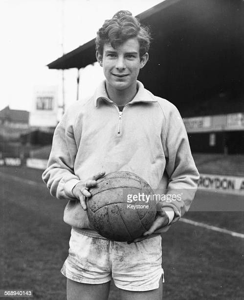 Portrait of young Australian football player Ross Cambridge on the pitch during a trial for Crystal Palace Football Club Selhurst Park England...