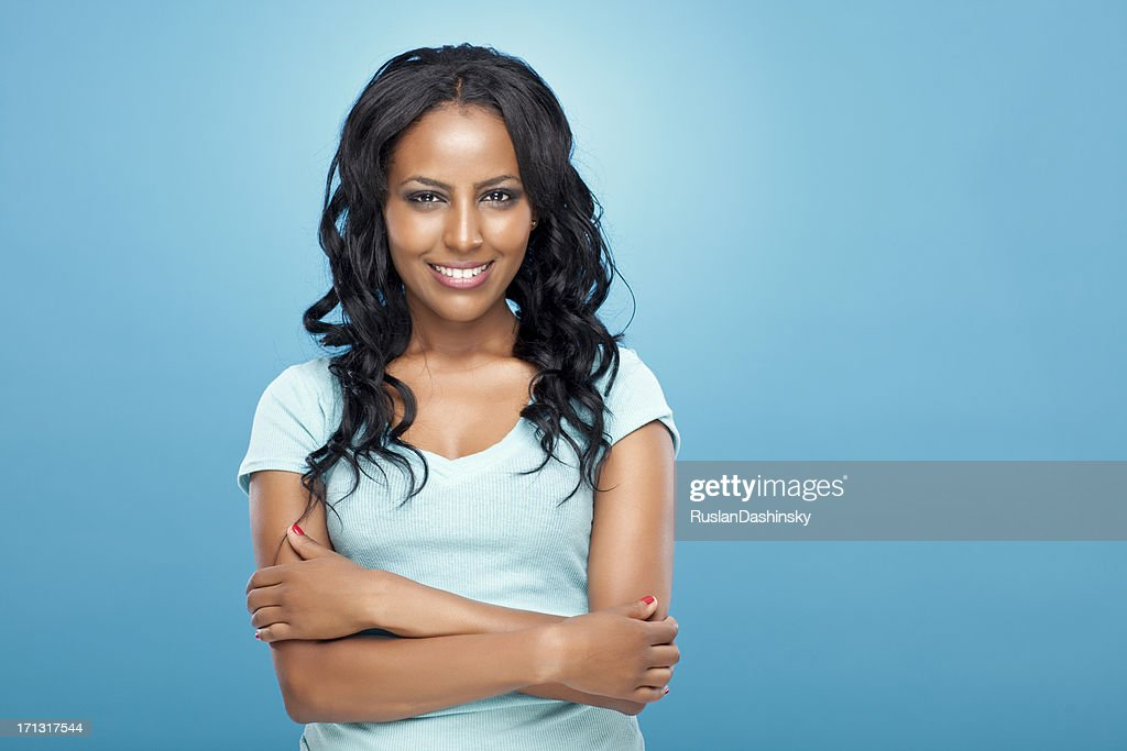 Portrait of young beautiful woman. : Stock Photo