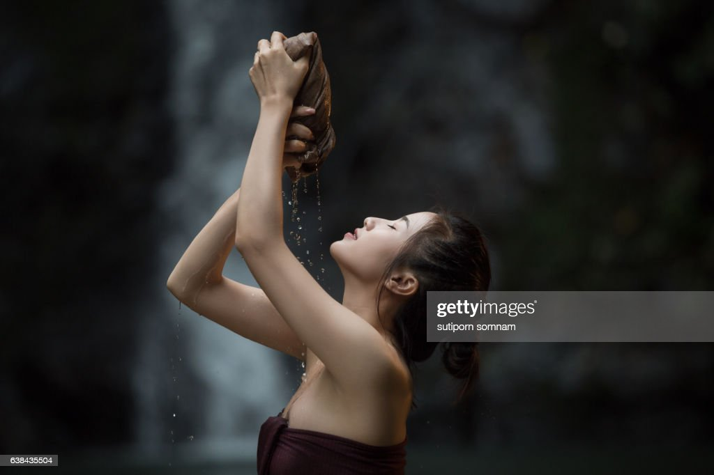 portrait of young beautiful woman : Stock Photo