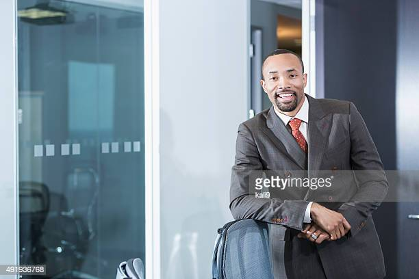 Portrait of young black business executive