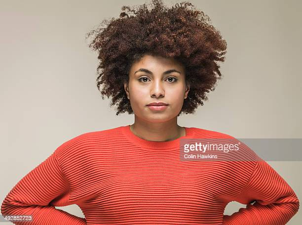 portrait of young black woman - blank expression stock pictures, royalty-free photos & images