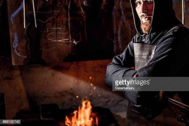 Portrait Of Young Blacksmith