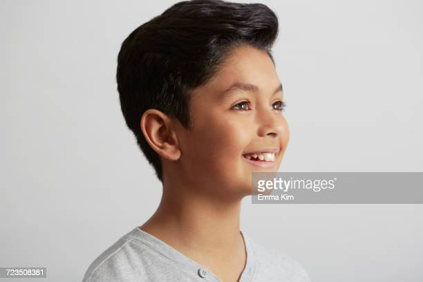 Portrait of young boy, smiling
