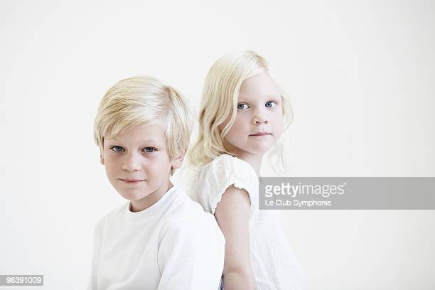 Portrait of young brother and sister