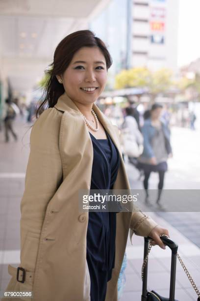 市の若い女性の肖像画