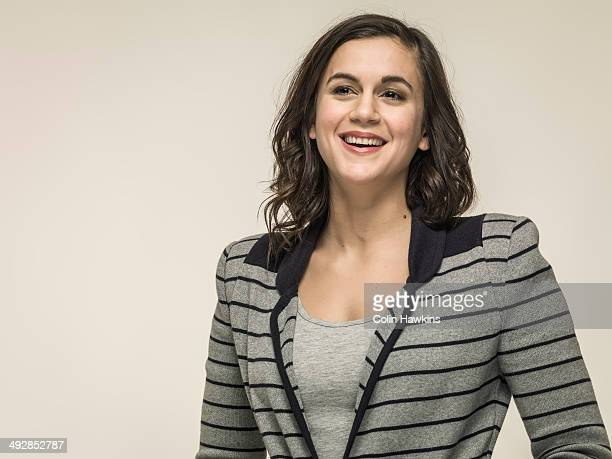portrait of young business woman - looking away stock pictures, royalty-free photos & images