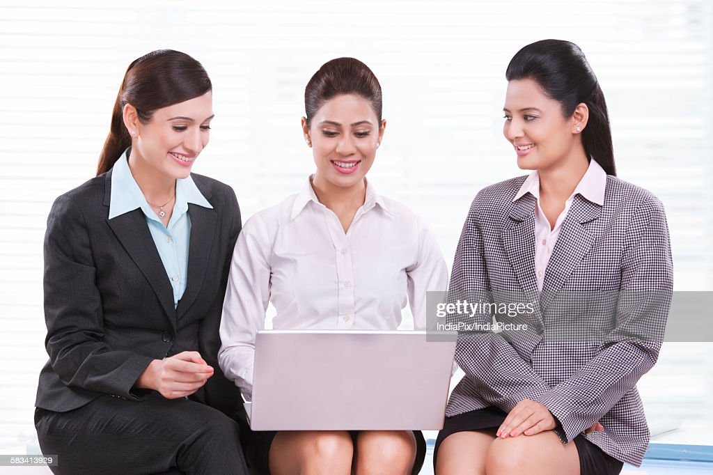 Portrait of young business women : Stock Photo