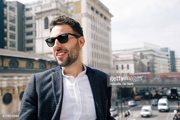 Portrait Of Young Businessman In London