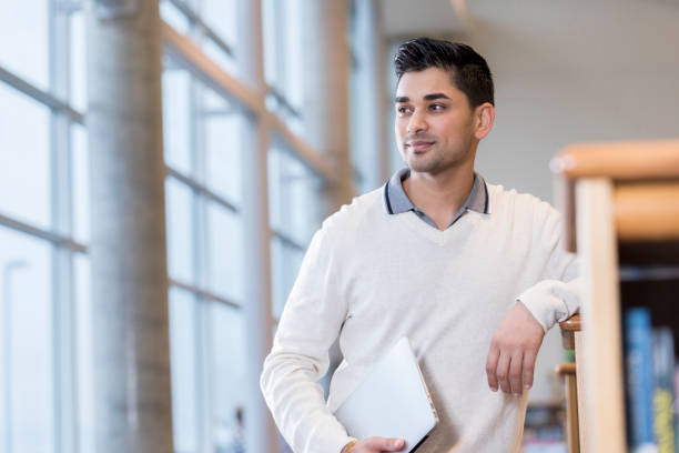 portrait of young businessman - asian professional male teacher stock pictures, royalty-free photos & images