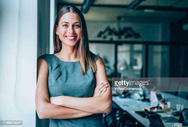 portrait of young businesswoman - businesswoman stock pictures, royalty-free photos & images