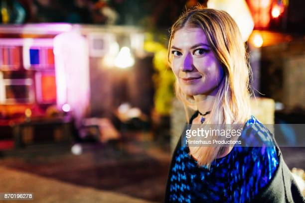 Portrait Of Young Clubgoer On Night Out