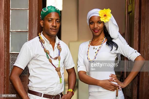 Portrait of Young Cuban Couple