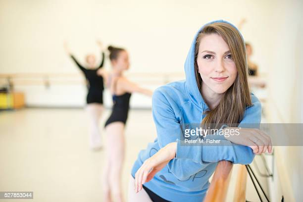 Portrait of young (13-15) dancer in dance studio