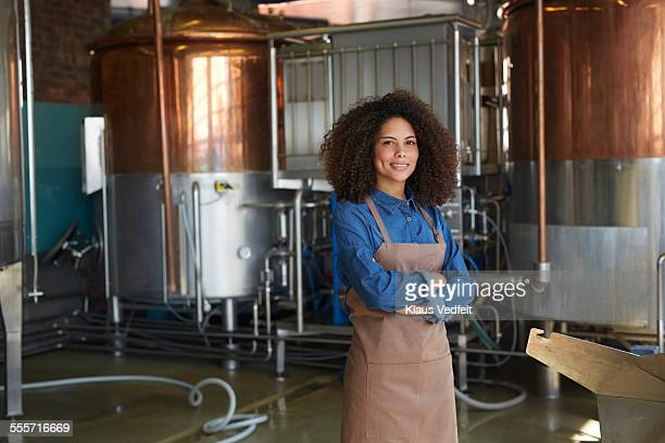 Portrait of young entrepreneur at microbrewery