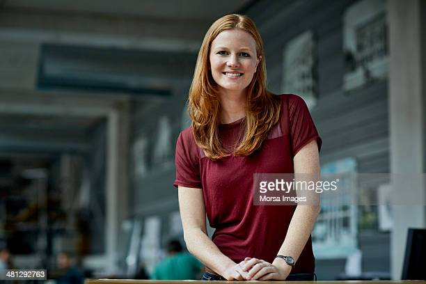 portrait of young female architect - redhead stock pictures, royalty-free photos & images