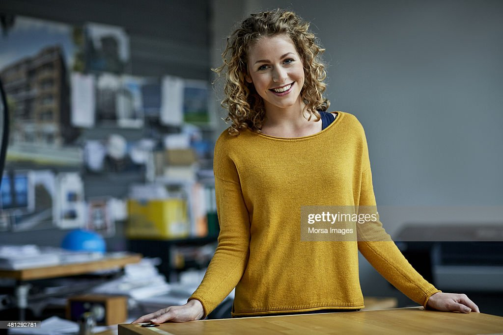 Portrait of young female architect : Stock Photo