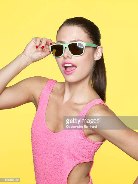 portrait of young female wearing sun glasses
