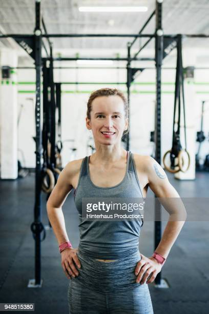 portrait of young fitness expert - eastern european descent stock pictures, royalty-free photos & images