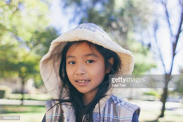 Portrait of young girl at the park