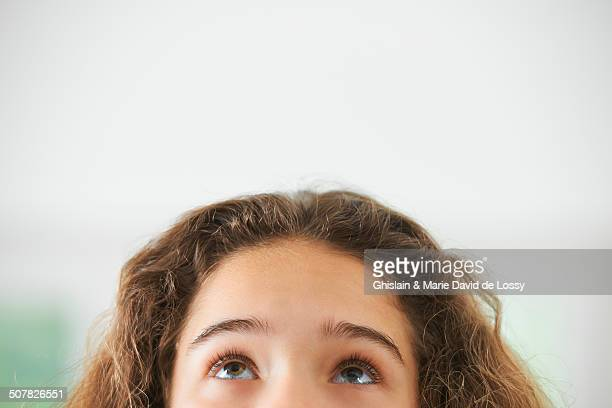 Portrait of young girl, focus on eyes