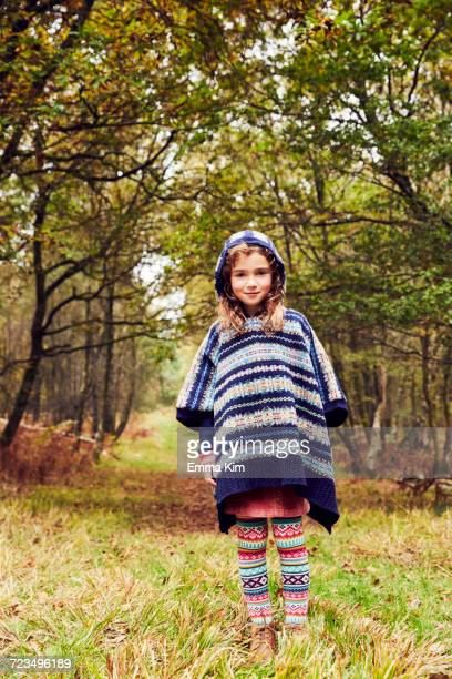 Portrait of young girl in rural setting