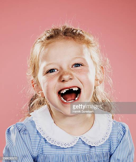 Portrait of young girl laughing