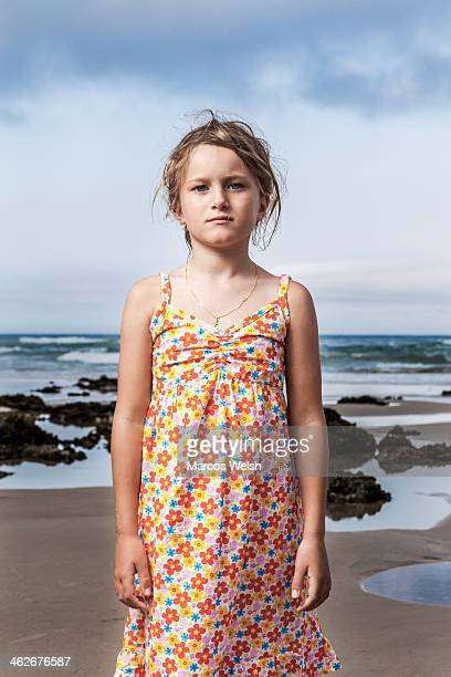 Portrait of young girl on beach