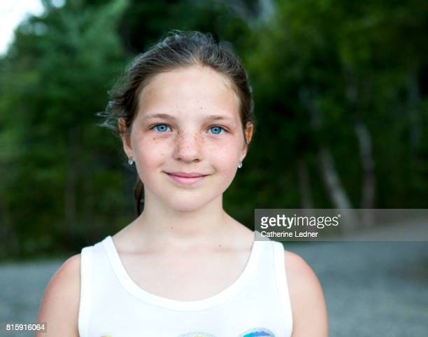 Portrait of young girl on summer vacation