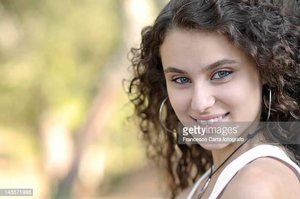 portrait of young girl - tempio pausania stock-fotos und bilder