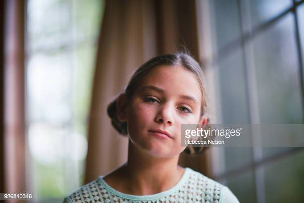 portrait of young girl - rebecca nelson stock pictures, royalty-free photos & images