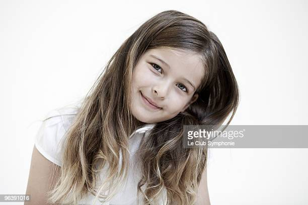 Portrait of young girl smiling to camera